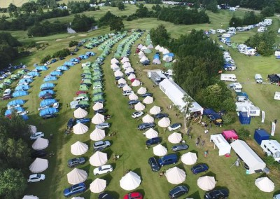 View of intentsGP campsite for the British F1 Grand Prix at Silverstone