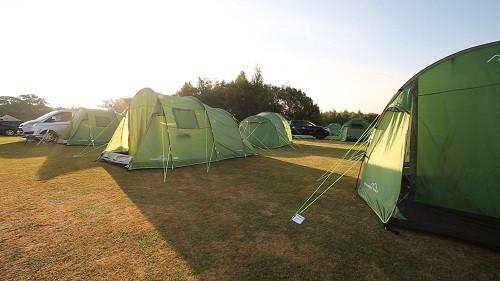 2 person standard pre erected tents at the British F1 Grand Prix