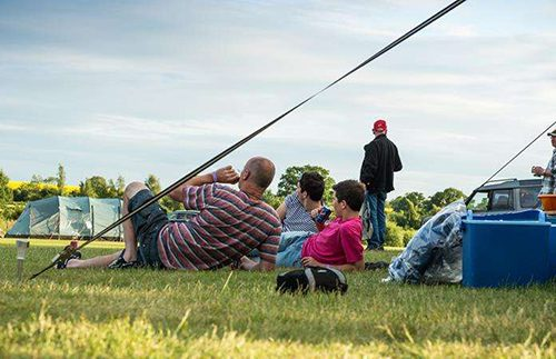 Guest relaxing at our campsite for the Silverstone WEC
