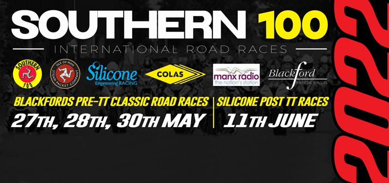 southern 100 pre and post tt races 2022 poster