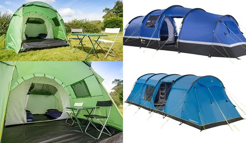 collage of standard tents