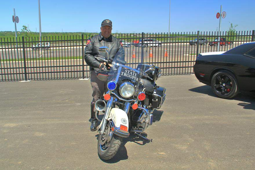 Austin State Trooper and his Harley