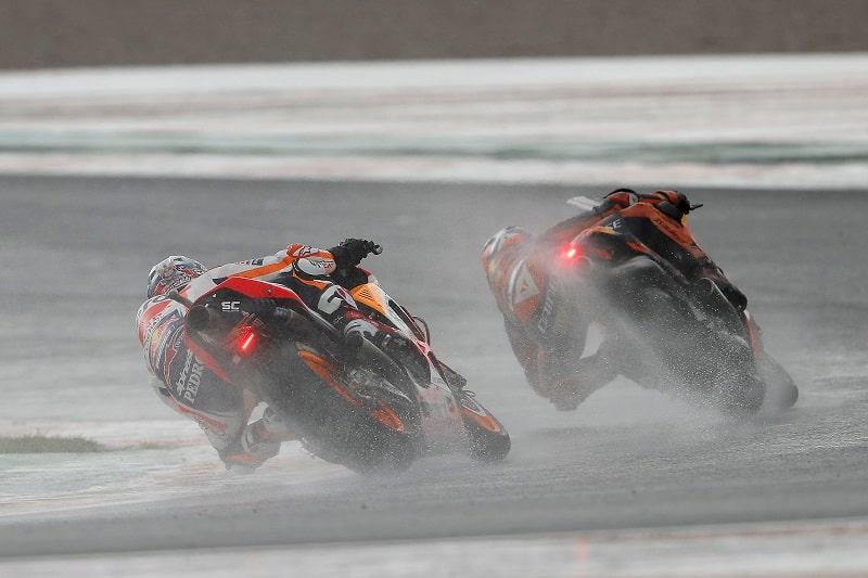 Valencia MotoGP 2018 wet race