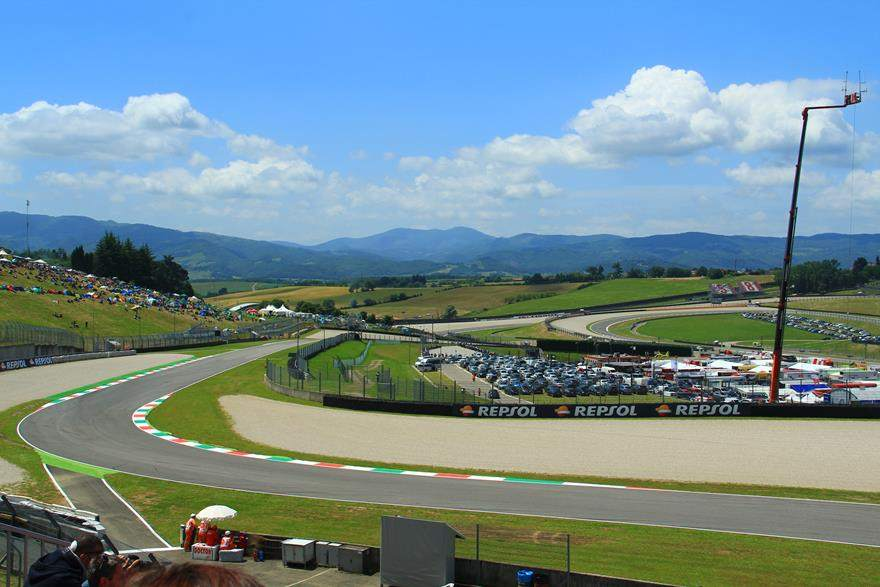 View from Mugello MotoGP grandstand
