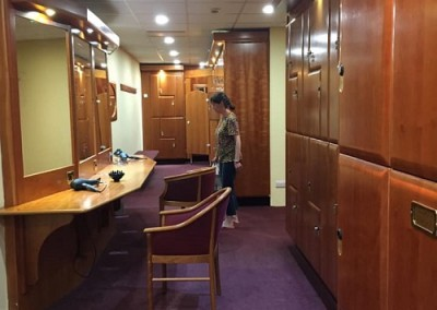 whittlebury ladies' changing rooms for silverstone f1