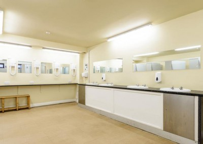 Whittlebury toilets and showers for the Silverstone MotoGP