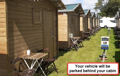 Glamping wood cabins for the British F1 Grand Prix at Silverstone